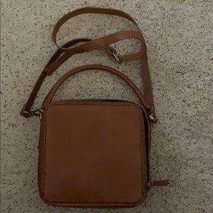 Madewell the square satchel bag english saddle